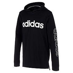 Adidas black green white hooded jacket 11 12