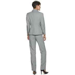 Women's Le Suit 1-Button Melange Pant Suit