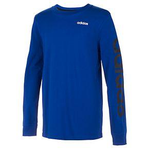 Boys 8-20 adidas Linear Sleeve Logo Tee