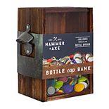 Hammer & Axe Bottle Cap Bank