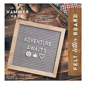 Hammer & Axe Letter Board Felt