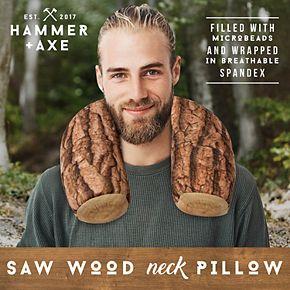 Hammer & Axe Neck Pillow Beaded Tree Stump