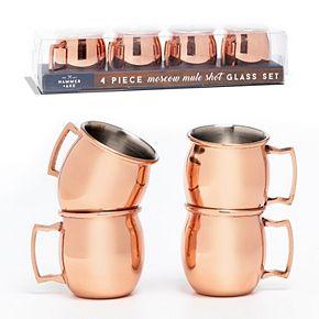 Hammer & Axe Copper Mug Shot Cups 4pk