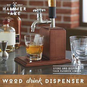 Hammer & Axe Liquor Dispenser Wood