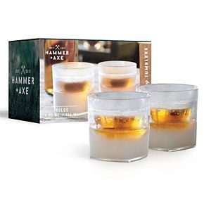 Hammer & Axe Whiskey Glass Cooling 2pc
