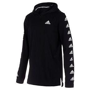 Boys 8-20 adidas Logo-Sleeve Pull-Over Hooded Tee