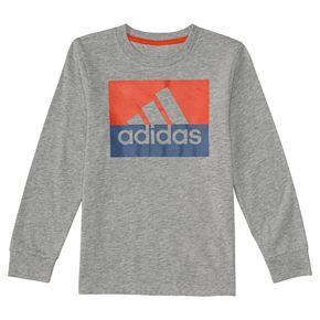 Boys 8-20 adidas Block Logo Tee