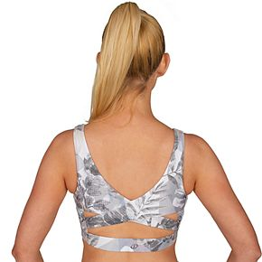 Women's Spalding Sedona Printed Cross Back Ruched Bra