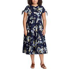 Plus Size Chaps Floral Midi Dress