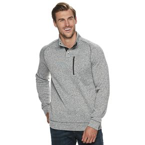 Big & Tall SONOMA Goods for Life? Supersoft Button Mockneck Sweater Fleece