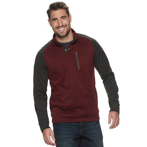Big & Tall SONOMA Goods for Life™ Supersoft Button Mockneck Sweater Fleece