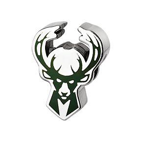 LogoArt Milwaukee Bucks Sterling Silver Enameled Bead