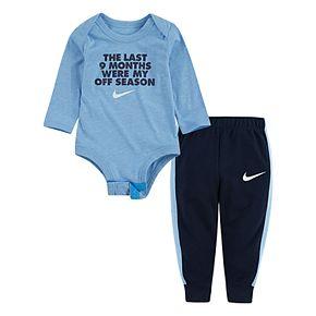 Baby Boy Nike 2 Piece Bodysuit & French Terry Pants Set