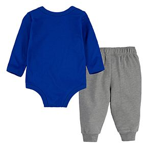 Baby Boy Nike 2 Piece Bodysuit & French Terry Pants Set