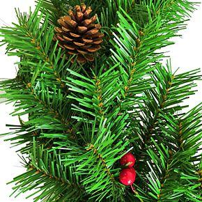 St. Nicholas Square® Artificial Porch Tree, Wreath & Garland Christmas Decor Set