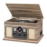 Victrola 6-in-1 Nostalgic Bluetooth Record Player With 3-speed Turntable