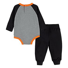 Baby Boy Nike 2 Piece Football Bodysuit and French Terry Pants Set