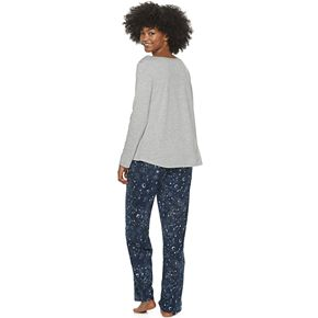 Juniors' WallFlower Sleep Tee and Pajama Pants Set