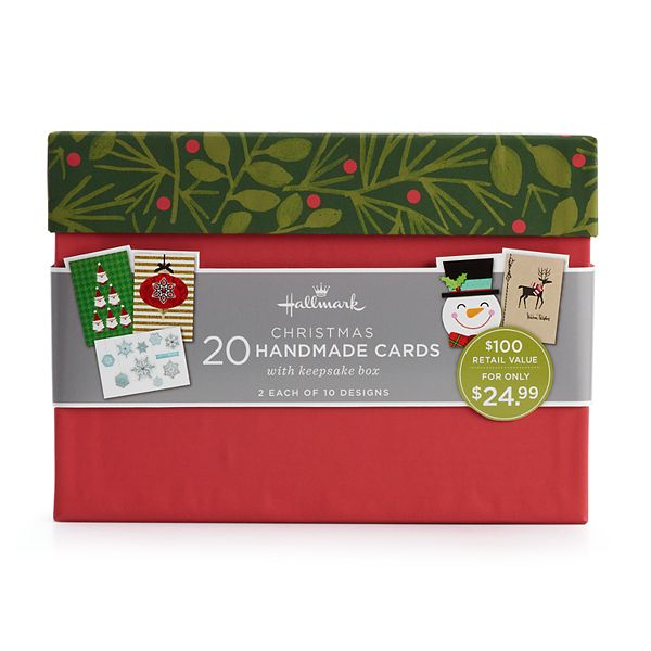 hallmark 20 count special holiday assorted handmade christmas card set hallmark 20 count special holiday assorted handmade christmas card set