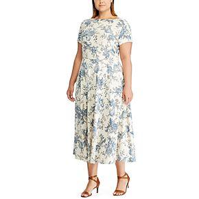 Plus Size Chaps Floral Midi Knit Dress