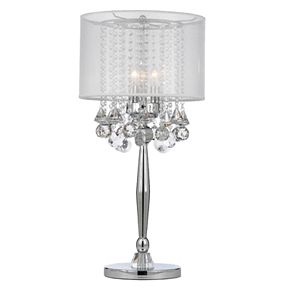 Gallery Silver Mist 3-Light Table Lamp with Shade