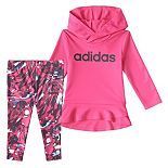 Girls 4-6x adidas Hoodie & Printed Leggings Set