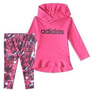 Girls 4-6x adidas Hoodie & Printed Leggings Set