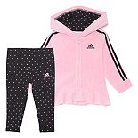 Girls 4-6x adidas Velour Hooded Jacket & Pants Set