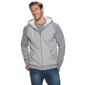 Big & Tall SONOMA Goods for Life? Sherpa-Lined Zip-Front Fleece Hoodie