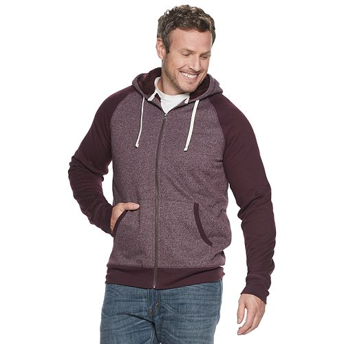 Big & Tall SONOMA Goods for Life® Sherpa-Lined Zip-Front Fleece Hoodie