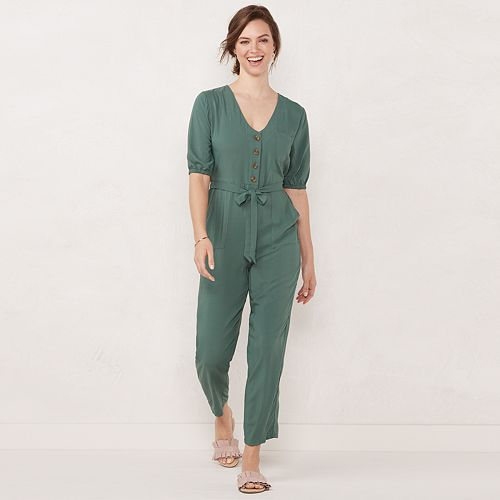 Women's LC Lauren Conrad Button Front Jumpsuit