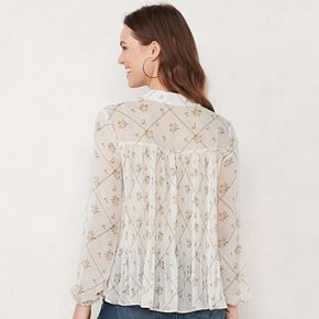 Women's LC Lauren Conrad Pleated Shirt