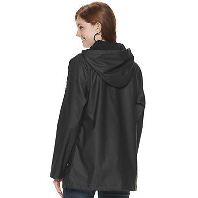 Juniors' madden NYC Cargo Pocket Rain Jacket