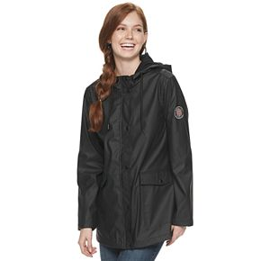 Juniors' madden NYC Cargo Pocket Rain Jacket