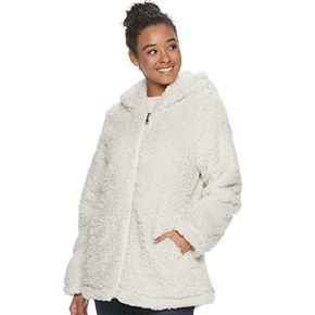 Juniors' madden NYC Fleece Hooded Jacket