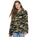 Juniors' madden NYC Juniors' Zip Front Sherpa Jacket