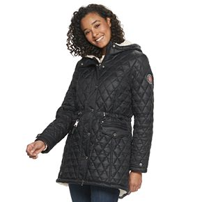 Juniors' madden NYC Juniors' Quilted Sherpa Jacket