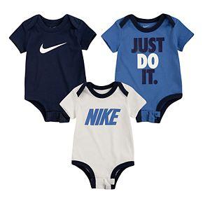Baby Boy Nike 3-Pack Short Sleeve Bodysuits