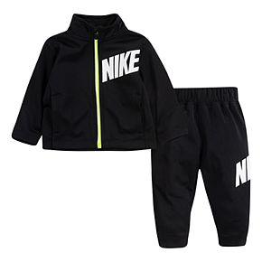Baby Boy Nike 2 Piece Tricot Zip Hoodie & Pants Track Set