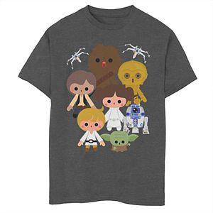 Boys' Star Wars Cute Heroes Group Graphic Tee