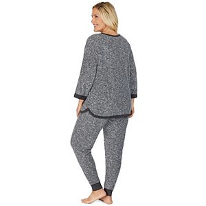Plus Size Cuddl Duds Sweater Knit Pajama Set