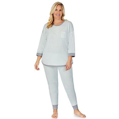 Plus Size Cuddl Duds® Sweater Knit Pajama Set