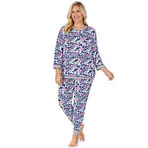 Plus Size Cuddl Duds Sweater Knit Pajama Set