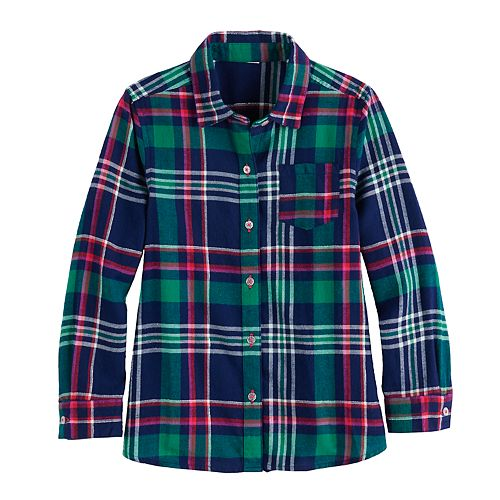 Girls 4-12 Jumping Beans® Flannel Tunic