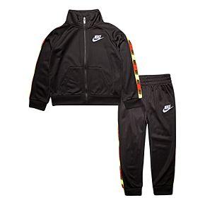 Toddler Boy Nike 2 Piece Taping Zip Jacket and Jogger Pants Track Set