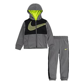 Toddler Boy 2T-4T Nike 2 Piece Therma Fleece Zip Hoodie and Jogger Pants Set