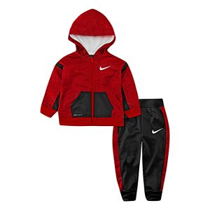 Nike Set Toddler Boy Piece Jogger Pants 4T 2T Fleece Hoodie 2 Zip Therma and 53j4RAL