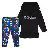 adidas Girls 4-6x adidas Hoodie & Printed Leggings Set