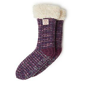 Women's Dearfoams Blizzard Sock Space Dye textured Knit