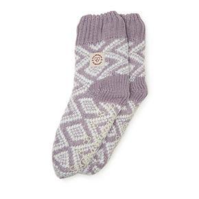 Women's Dearfoams Flurry Fairisle Knit Flurry Slipper Socks